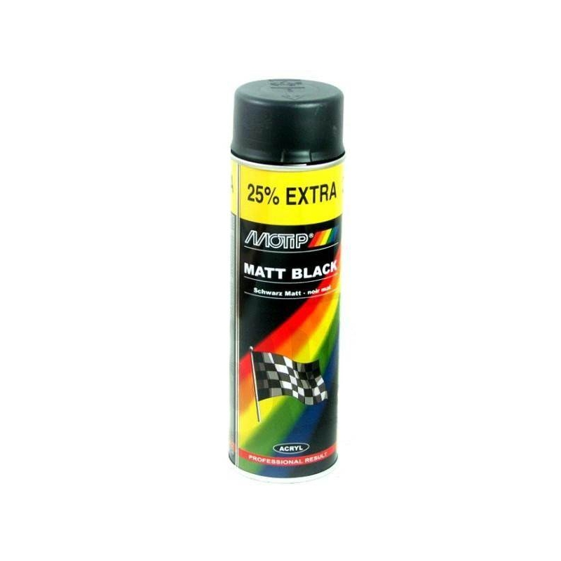 peinture noir mat motip 500ml bombe spray prix 5 99 motip m4006 directement disponible chez. Black Bedroom Furniture Sets. Home Design Ideas