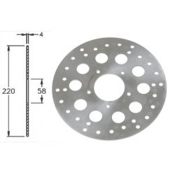 Front brake disc IGM for Gilera Runner