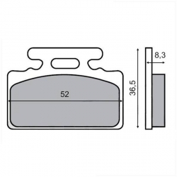 Front brake pads for Sym Mio
