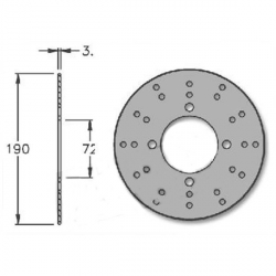 Rear brake disk for Honda X8R