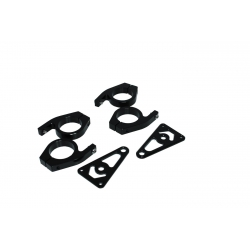 Black matt billet frontlight brackets set 26, 30 or 45 mm with holes for winkers