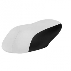 Seat cover white and black TNT for Aerox / Nitro