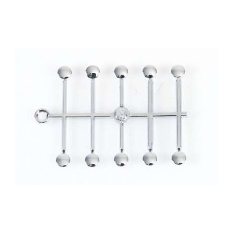 Chrome covers for Allen head screws M6 ( 10 pcs )