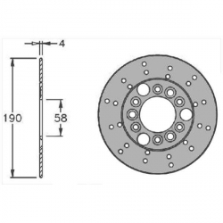 Brake disc 190mm Nitro Aerox Speedfight Vivacity Piaggio Gilera By IGM