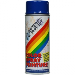 Peinture spray Motip bleu ultramarin brillant 400ml bombe