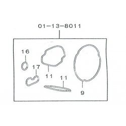 Gasket set O'ring Takegawa Superhead 4V+R 01-13-8011