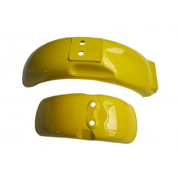 Pair of mudguard yellow for Monkey