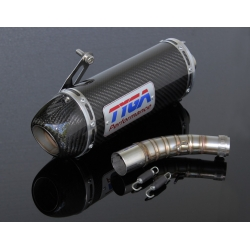Exhaust set slip on, oval carbon silencer Honda MSX125 GROM