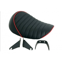 Seat Monkey Kepspeed Rised back black with white piping