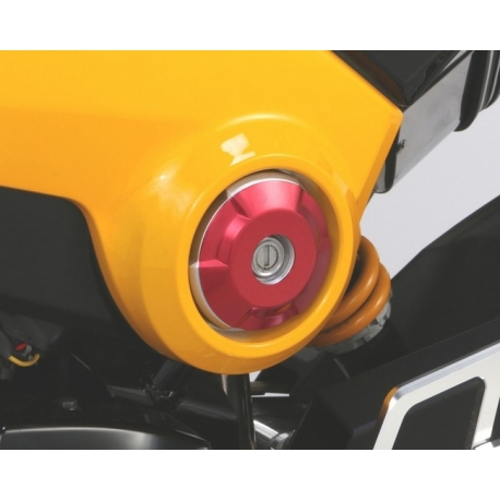 Kitaco side accent cover set red anodized for Honda MSX - Grom 125
