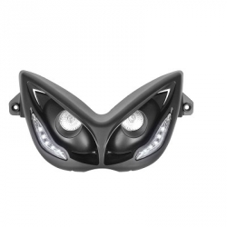 Headlight - front light for Nitro / Aerox R8 look : black with blue leds