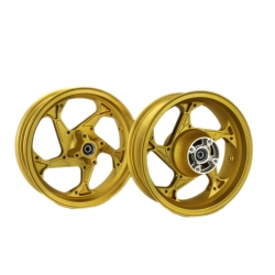 Golden wheels set for Honda Grom MSX 125
