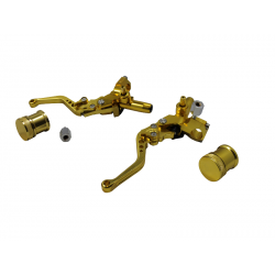 Brake master cylinder double hydro CNC Gold