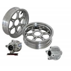 "Kepspeed KP7 wheels set 2.75+3.50 12"" silver for MSX Grom"