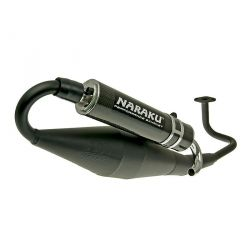 Naraku exhaust for GY6 50cc black and carbon silencer