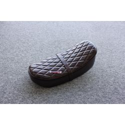 Genuine leather seat dark brown for Honda Dax and replicas