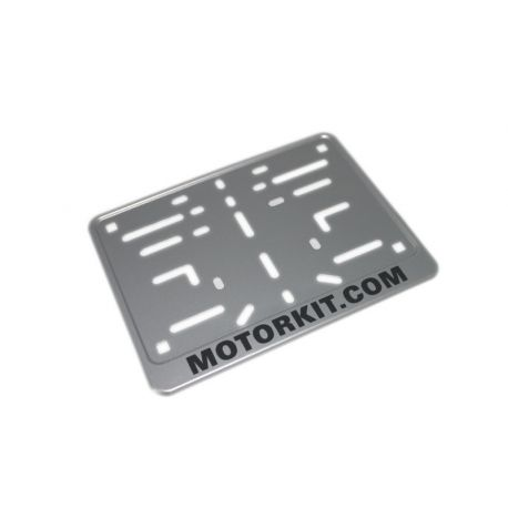 License plate support for belgian motorbikes and scooters, aluminium