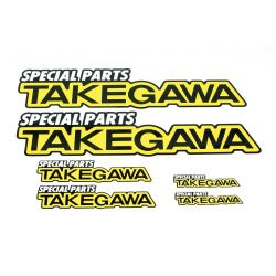 Set of 6 Stickers TAKEGAWA 08-01-0086