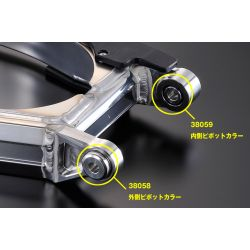 G-Craft aluminium vulring voor Triple-Square Swingarm Honda Monkey