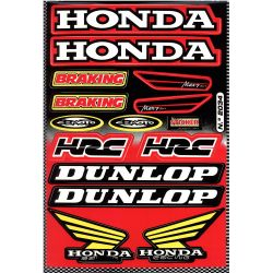 Stickers sponsor kit Honda Dunlop