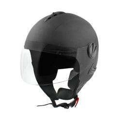 Jet Helmet Urban mat blackt with clear visor