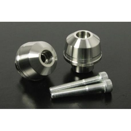 TAKEGAWA Stainless Steel Handlebar End Set for Honda Cub 20 and 110 FI
