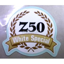 "Sticker zijcover Honda Monkey Z50 ""White special"""