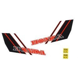 Fuel tank sticker set for Honda Camino - Hobitt Custom red white black
