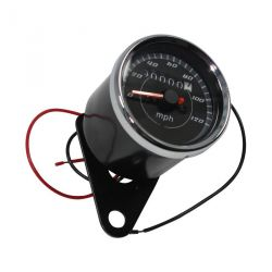 Speedometer teller for Honda mini 4 stroke 120 mph, black