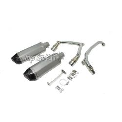Exhaust twin AKRA type for Honda MSX - Grom 125