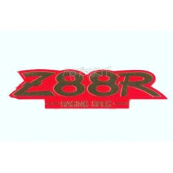 Z88R kitaco tank emblem gold on red background by kitaco
