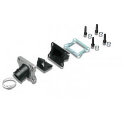 Manifold and reed valves kit Malossi for 19-21 mm carburetor on Derbi and AM6
