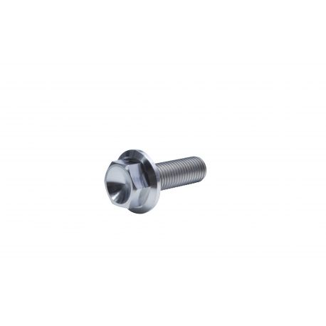 Titanium bolt GR-5 Flanged Hex screw M10 x 30 mm 1 50 pitch price : 4,89 €  MKR Product TI-M10-30-150-6921 available at MOTORKIT