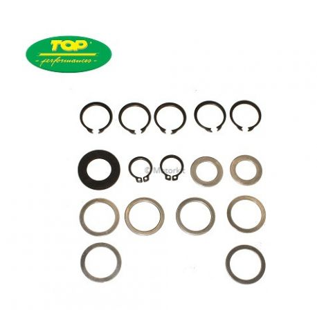 set of washers and clips for gearbox Minarelli AM6 from (2012 to 2018) AM00044