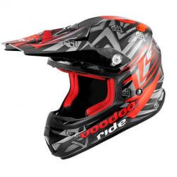 Helm cross VooDoo Ride Icon RED