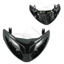 Headlight Speedfight 2, R8 style, black, 4 halogen + leds