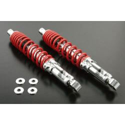 Takegawa 330mm shockabsorbers set red and chrome Monkey 125 DAX ST CT