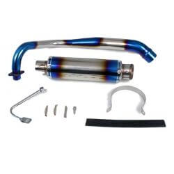 Kepspeed blue stainless steel exhaust for Honda Dax CT ST Monkey ZB and Skyteam PBR ...