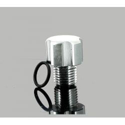 Aluminum oil filler plug for Minarelli AM6 engines