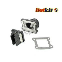 Boite à clapets racing Italkit Doble Prisma avec pipe d'admission PWK AM6 / Derbi