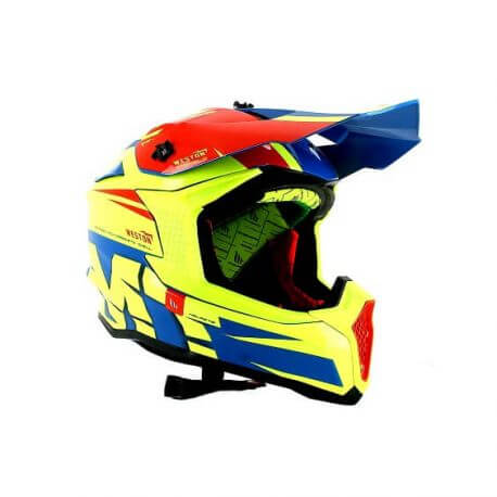 MT Falcon Weston Neon Cross Helmet