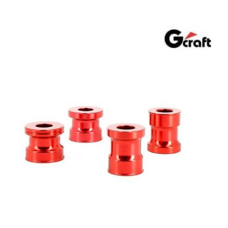 G-Craft wheel axle spacers for Honda Monkey 125cc - Red Anodized