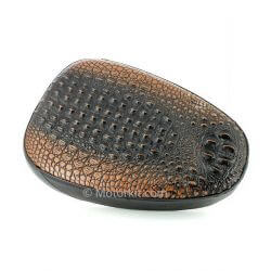 "Dark brown ""crocodile"" skin seat for Honda Cub C50 C70"