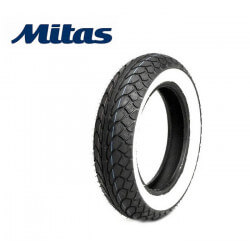 Mitas tire with whitewall 10 inch 100/80