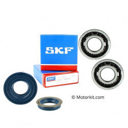 Set SKF bearings and Viton oil seals for crankshaft Nitro Aerox Booster Bw CPI Stunt Slider