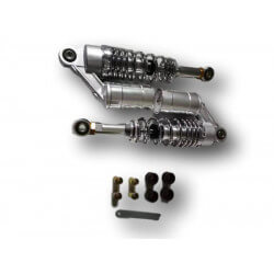 Chrome gas shock absorbers - 285mm - adjustable