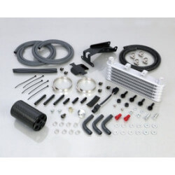 Kitaco 5 layers oil cooler for Honda Monkey 125cc - black carbon breather