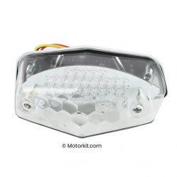 Lucas Leds rear light with clear glass.