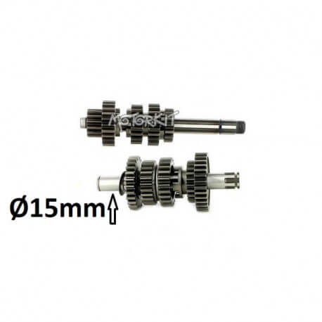 Gearbox complete axle set for ZongShen 190cc 2V (5-speed)