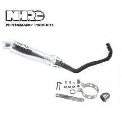 NHRC Exhaust - removable - low - black tube for Dax Zenhua / Skyteam + O2